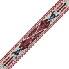 Woven Braid-hitched 5Ft 0.75in/19mm White/red